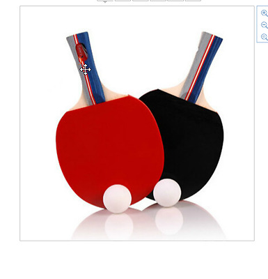 New Racquet 2 Pieces/Set Table Tennis Rackets Ping Pong Paddle Long/Short Handle