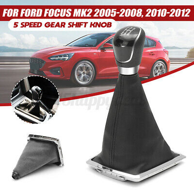 5 Speed Gear Shift Knob Stick Lever Gaitor Gaiter Boot Cover For Ford Focus
