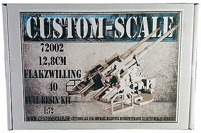 1:72 72002 12,8cm Flakzwilling 40 Full Resin Modell Custom-Scale