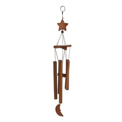 Bamboo 8-Tube Star Pendant Church Bells Yard Home Living Wind Chimes Hearts