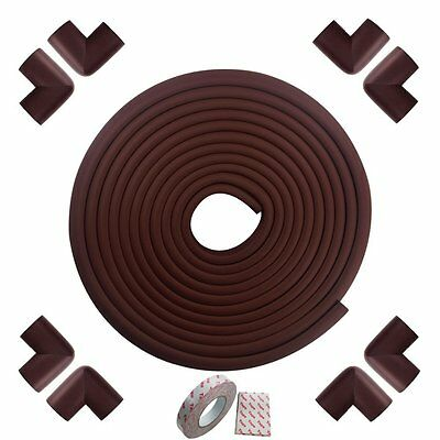 FATCHOI Safe Edge and Corner Cushion 19.68ft Edge+8 Corners Soft Rubber Child