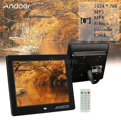 """Andoer 8"""" HD Wide Screen Digital Photo Picture Frame with Remote Control O7V1"""