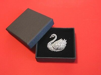 Austrian Crystal Swan Brooch Mother's Day Jewellery Christmas Gift