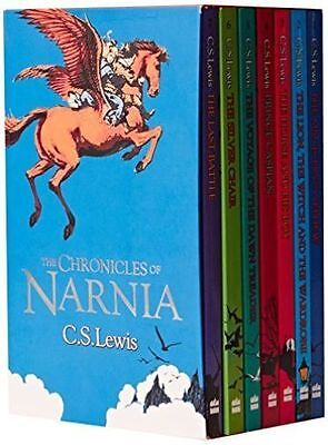 The Chronicles of Narnia 7 Book Box Set by CS Lewis Children Gift Set Kids NEW