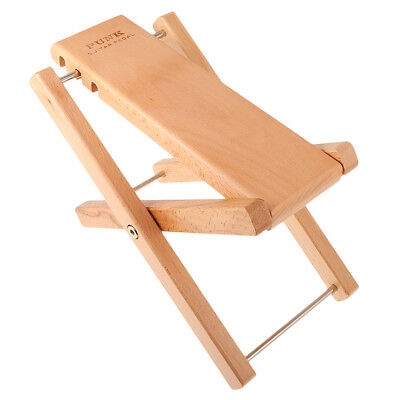 """Guitar Practice / Performance Foot Rest Stool – Collapsible 4.5-7.5"""" Wood"""