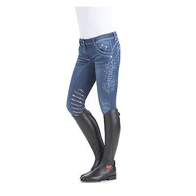 Animo Breeches jodhpurs  In Denim With Gripping I-34  age 10