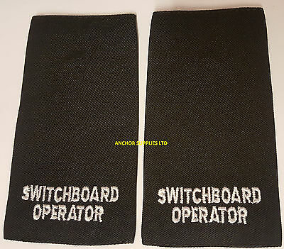 2 Sets x Switchboard Operator Epaulettes Slide On 2 Pairs Supplied (E20)