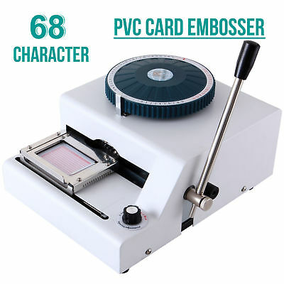 68 Character Letter Manual Embosser Stamping Machine PVC Credit Card Embossing