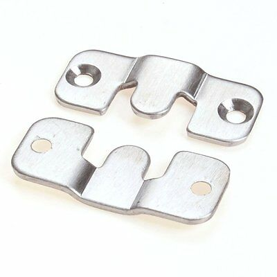 """Cotowin 2 Sets Stainless Steel Flush Mount Picture Heavy Hangers,size S 1 3/4"""" X"""