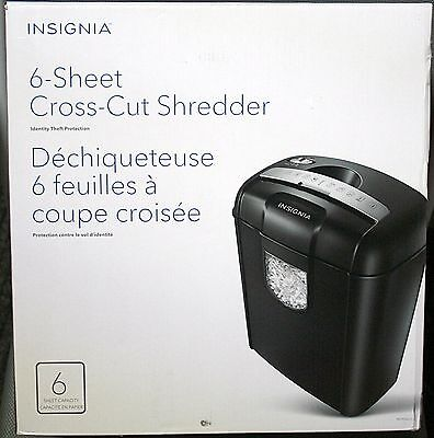 Insignia 6-Sheet Cross-Cut Shredder (Black) - Ns-Ps06Cc