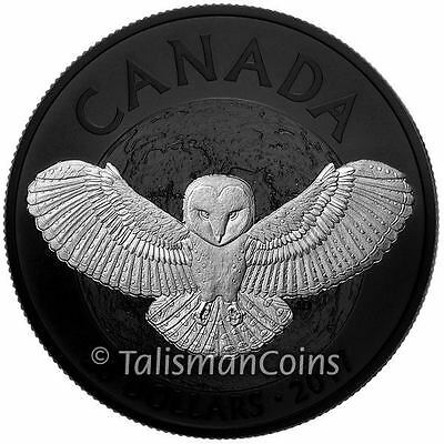 Canada 2017 Nocturnal by Nature #1 Barn Owl $20 Silver Prf Black Rhodium Plating