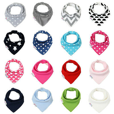 Dotty Fish Baby and Toddler Bandana Dribble Bibs - One Size