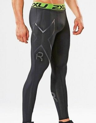 New 2XU Men Refresh Recovery Tights Train Race Recover Comfort Waistband MA4419b