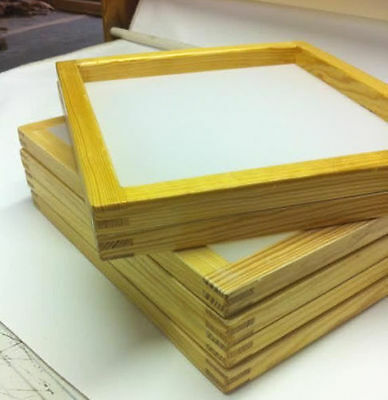 6 Wood Silkscreen Frames 20 X 24 White or yellow mesh, (different mesh counts)