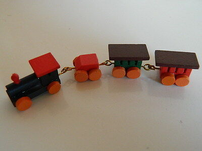 (M4.14) Dolls House Colourful Wooden Toy Train