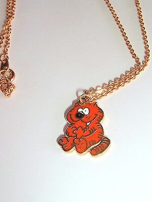 Rare 1979 Vintage Heathcliff Necklace McNaught Syndicate PAGO Taiwan Cat jewelry