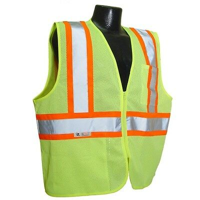 Radians-Polyester Mesh Economy Class 2 High Visibility Zipper Closure Vest
