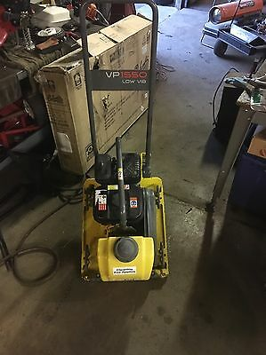 Wacker Vp1550 Plate Compactor With Wheel Kit