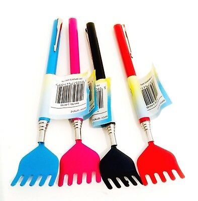 Colourful Extendable Back Scratcher Handy Portable Metal Clip Novelty Pen Style