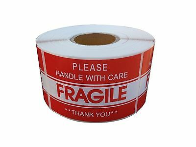 "FRAGILE STICKER 2""x3"" FRAGILE HANDLE WITH CARE STICKER & SHIPPING LABEL USA SELL"
