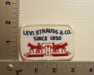 Levi Strauss & Co. Since 1850   Vintage Embroidered Patch (White/red)