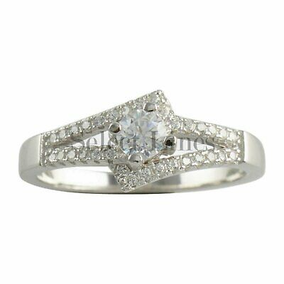 Sterling Silver Fancy CZ Womens Band 925 Ladies Ring