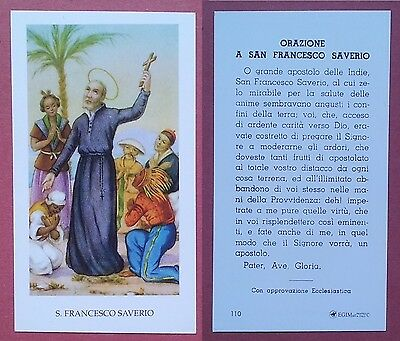 Santino Holy Card: S. Francesco Saverio - Ed. EGIM 110