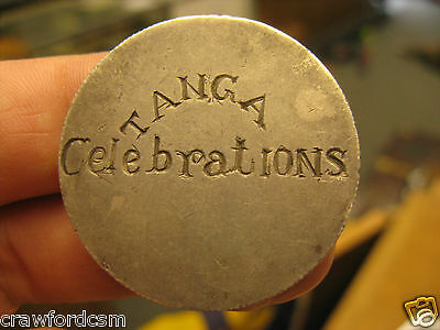 Tanganyika Tanga 1919 Peace Celebrations engraved German East Africa Silver Coin