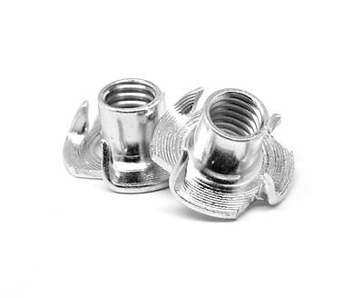 """5/16""""-18 x 3/8"""" Coarse Thread Tee Nut 3 Prong Low Carbon Steel Zinc Plated Pk"""