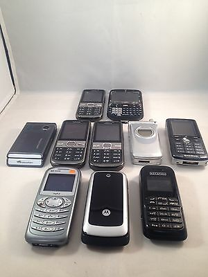 Joblot - 10x Various Faulty Mobile Phone Handsets