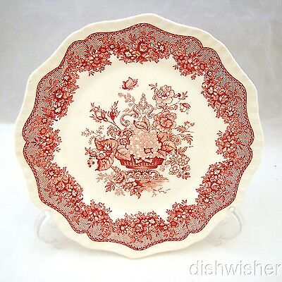 "Masons ASCOT PINK RED Salad Plate 8"" CRAZED"