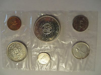 1964 Royal Canadian Mint Proof-Like 6 coin set, 80% silver - no envelope