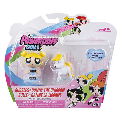 New The Powerpuff Girls Bubbles & Donny The Unicorn Figure Pack