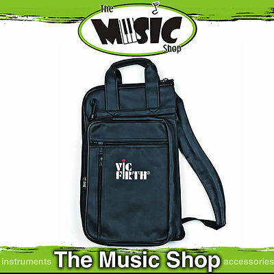 Vic Firth Drum Stick Bag - Holds 24 Pairs of Sticks/Mallets & Accessories Black