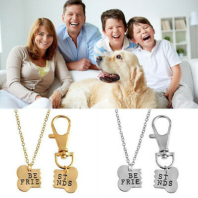 Dog Lover Best Friend Dog Tag Necklace Set Bone Tag Dogs Best Friends Jewelry