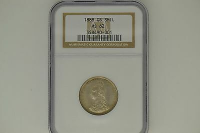 Great Britain: 1888 Shilling- NGC MS-62.