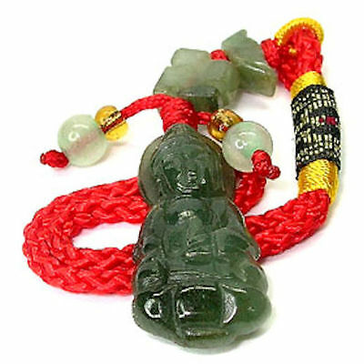 Stunning  Kwan Yin Lucky Charm carved from Natural Jade