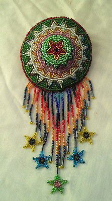 Nice Southwest Style Beaded Fringes Hair Pin Accessory Medallion Barrette