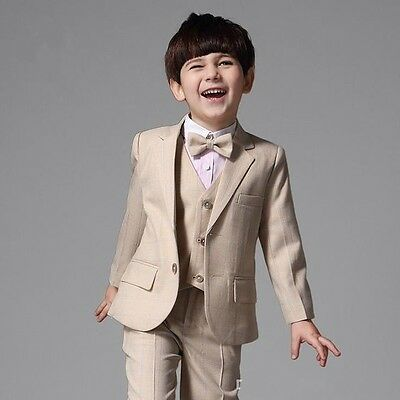 Hot New Wedding Page Boys Suit Formal Kids Teenagers Students Graduation Tuxedos