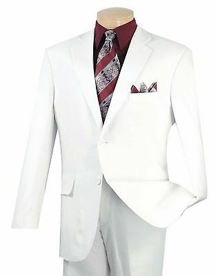Men's White Linen 2 Button Classic Fit Suit NEW Tropical Suit