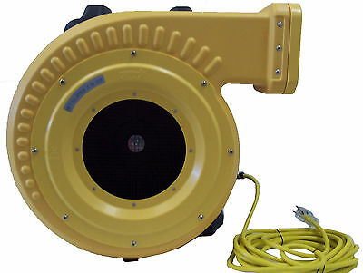 Commercial Bounce House Blower, 1 HP XLT - Inflatable Air Fan Motor - NEW DESIGN