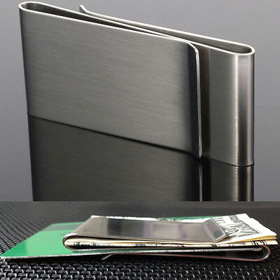 Money notes Clip Credit Card Holder Double Sided Wallet Metal Stainless Steel