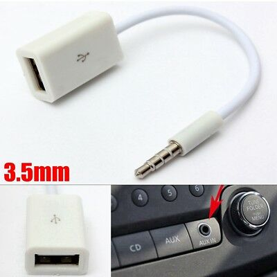 3.5mm Male AUX Audio Plug Jack to USB 2.0 A Female Adapter Converter Cable Cord