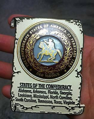 Confederate States of  America flexible Magnet approx 4 inches long NEW Limited
