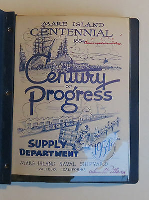 1854 - 1954 Mare Island Vallejo Ca Centennial Century Progress Supply Photo Bk
