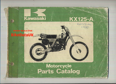 Genuine Kawasaki KX125-A6 (1980) Parts List Manual Catalogue Book KX 125 A VMX