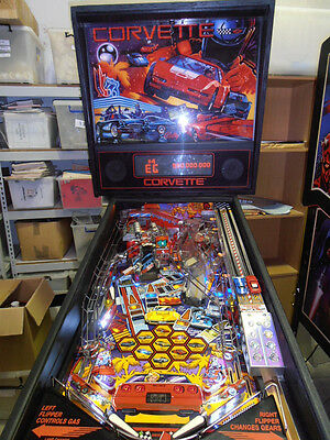 Corvette Collectable Pinball Machine  100% Fully Working & Shopped : MR PINBALL