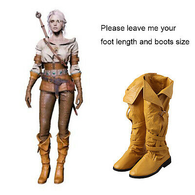 The Witcher 3 Wild Hunt Geralt of Rivia Brokilon Boots Gwynbleidd Cosplay Shoes