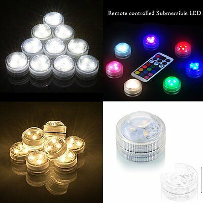 10PCS LED Submersible Waterproof Round Candles Lights White 3 SMD LED YK