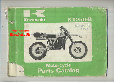Genuine Kawasaki KDX250-B1 (1982) Parts List Manual Catalogue Book KDX 250 B VMX